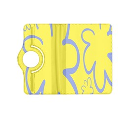 Doodle Shapes Large Flower Floral Grey Yellow Kindle Fire Hd (2013) Flip 360 Case by Alisyart