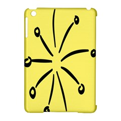 Doodle Shapes Large Line Circle Black Yellow Apple Ipad Mini Hardshell Case (compatible With Smart Cover) by Alisyart