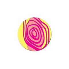 Doodle Shapes Large Line Circle Pink Red Yellow Golf Ball Marker (4 Pack) by Alisyart