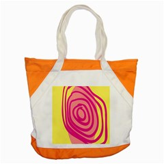 Doodle Shapes Large Line Circle Pink Red Yellow Accent Tote Bag by Alisyart