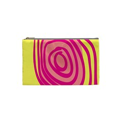 Doodle Shapes Large Line Circle Pink Red Yellow Cosmetic Bag (small)  by Alisyart