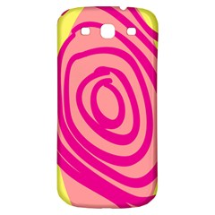 Doodle Shapes Large Line Circle Pink Red Yellow Samsung Galaxy S3 S Iii Classic Hardshell Back Case by Alisyart