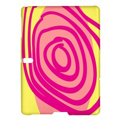 Doodle Shapes Large Line Circle Pink Red Yellow Samsung Galaxy Tab S (10 5 ) Hardshell Case  by Alisyart