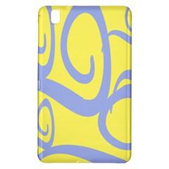 Doodle Shapes Large Waves Grey Yellow Chevron Samsung Galaxy Tab Pro 8 4 Hardshell Case by Alisyart