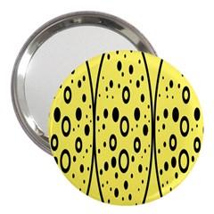 Easter Egg Shapes Large Wave Black Yellow Circle Dalmation 3  Handbag Mirrors by Alisyart