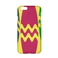 Easter Egg Shapes Large Wave Green Pink Blue Yellow Apple Iphone 6/6s Hardshell Case by Alisyart