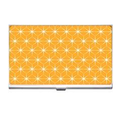 Yellow Stars Light White Orange Business Card Holders by Alisyart