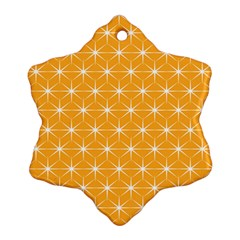 Yellow Stars Light White Orange Ornament (snowflake) by Alisyart