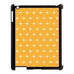 Yellow Stars Light White Orange Apple Ipad 3/4 Case (black) by Alisyart