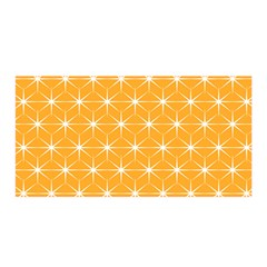 Yellow Stars Light White Orange Satin Wrap by Alisyart