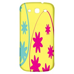 Easter Egg Shapes Large Wave Green Pink Blue Yellow Black Floral Star Samsung Galaxy S3 S Iii Classic Hardshell Back Case by Alisyart