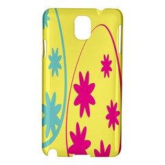 Easter Egg Shapes Large Wave Green Pink Blue Yellow Black Floral Star Samsung Galaxy Note 3 N9005 Hardshell Case by Alisyart
