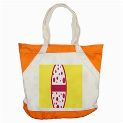 Easter Egg Shapes Large Wave Pink Yellow Circle Dalmation Accent Tote Bag by Alisyart