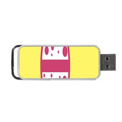 Easter Egg Shapes Large Wave Pink Yellow Circle Dalmation Portable Usb Flash (two Sides) by Alisyart