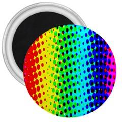 Comic Strip Dots Circle Rainbow 3  Magnets by Alisyart