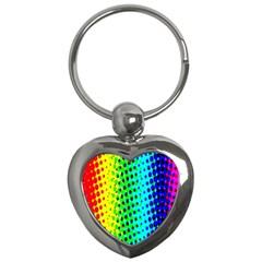 Comic Strip Dots Circle Rainbow Key Chains (heart)  by Alisyart