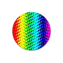 Comic Strip Dots Circle Rainbow Magnet 3  (round) by Alisyart
