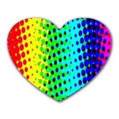 Comic Strip Dots Circle Rainbow Heart Mousepads by Alisyart