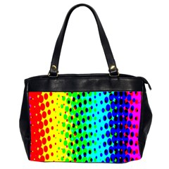 Comic Strip Dots Circle Rainbow Office Handbags (2 Sides)  by Alisyart