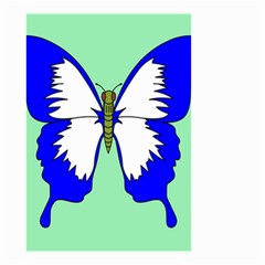 Draw Butterfly Green Blue White Fly Animals Small Garden Flag (two Sides) by Alisyart