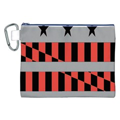Falg Sign Star Line Black Red Canvas Cosmetic Bag (xxl) by Alisyart