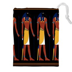 Egyptian Mummy Guard Treasure Monster Drawstring Pouches (xxl) by Alisyart