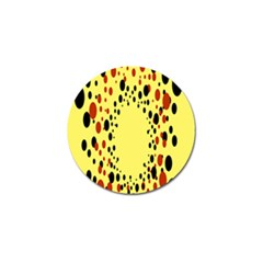 Gradients Dalmations Black Orange Yellow Golf Ball Marker (4 Pack) by Alisyart