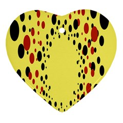 Gradients Dalmations Black Orange Yellow Heart Ornament (two Sides) by Alisyart