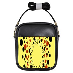 Gradients Dalmations Black Orange Yellow Girls Sling Bags by Alisyart
