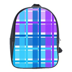 Gingham Pattern Blue Purple Shades Sheath School Bags (xl)  by Alisyart