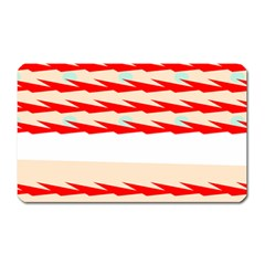 Chevron Wave Triangle Red White Circle Blue Magnet (rectangular) by Alisyart