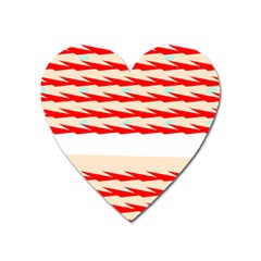 Chevron Wave Triangle Red White Circle Blue Heart Magnet by Alisyart