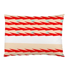 Chevron Wave Triangle Red White Circle Blue Pillow Case by Alisyart