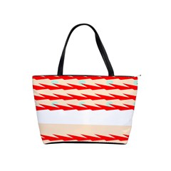 Chevron Wave Triangle Red White Circle Blue Shoulder Handbags by Alisyart
