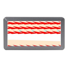 Chevron Wave Triangle Red White Circle Blue Memory Card Reader (mini) by Alisyart