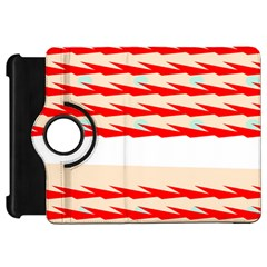 Chevron Wave Triangle Red White Circle Blue Kindle Fire Hd 7  by Alisyart