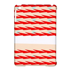 Chevron Wave Triangle Red White Circle Blue Apple Ipad Mini Hardshell Case (compatible With Smart Cover) by Alisyart