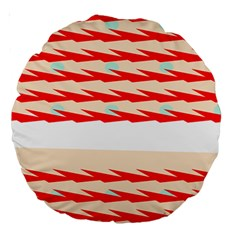 Chevron Wave Triangle Red White Circle Blue Large 18  Premium Round Cushions by Alisyart
