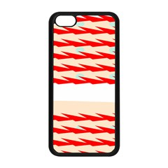 Chevron Wave Triangle Red White Circle Blue Apple Iphone 5c Seamless Case (black) by Alisyart