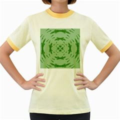 Green Hole Women s Fitted Ringer T-Shirts