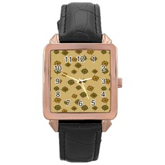Compass Circle Brown Rose Gold Leather Watch  by Alisyart
