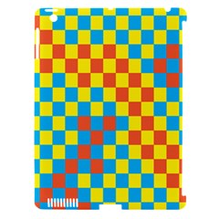 Optical Illusions Plaid Line Yellow Blue Red Flag Apple Ipad 3/4 Hardshell Case (compatible With Smart Cover) by Alisyart