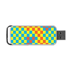 Optical Illusions Plaid Line Yellow Blue Red Flag Portable Usb Flash (one Side) by Alisyart