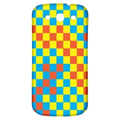 Optical Illusions Plaid Line Yellow Blue Red Flag Samsung Galaxy S3 S Iii Classic Hardshell Back Case by Alisyart