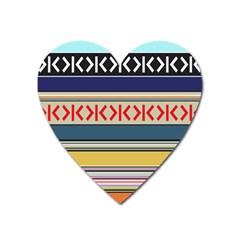 Original Code Rainbow Color Chevron Wave Line Heart Magnet by Alisyart