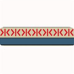 Original Code Rainbow Color Chevron Wave Line Large Bar Mats by Alisyart