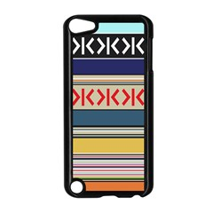 Original Code Rainbow Color Chevron Wave Line Apple Ipod Touch 5 Case (black) by Alisyart