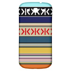 Original Code Rainbow Color Chevron Wave Line Samsung Galaxy S3 S Iii Classic Hardshell Back Case by Alisyart