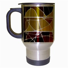 Geometric Mosaic Line Rainbow Travel Mug (silver Gray) by Alisyart