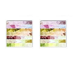 Geometric Mosaic Line Rainbow Cufflinks (square) by Alisyart